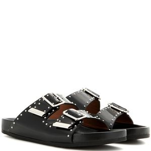 Givenchy Studded Patent Leather Slides